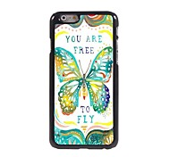 Free to Fly Design Aluminum Hard Case for iPhone 6
