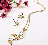Z&X®  Fashion Alloy Butterfly Jewelry Set(Including Necklaces Earrings)