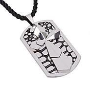 collar de acero de titanio colgante cruz doble de los hombres