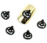 50PCS 3D Halloween Nail Designs Black Pumpkin for Acrylic Nail Tips Nail Art Decorations