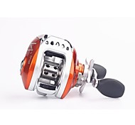 Water Droplets Orange Fishing Reel
