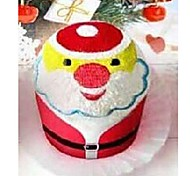 Birthday Gift Santa Clause Shape Fiber Creative Towel (Random Color)