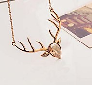 Korean Version Fashion Milu Deer Pendant Necklace