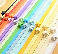 2 x 90 PCS Fluorescent Color Lucky Star Origami Materials (Random Color)