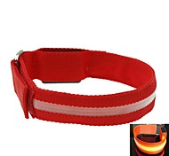 LED Light Screen Arm Band Strap Armband Red (2xCR2032)