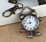 Unisex Robot/Alarm Clock-Shaped Alloy Analog Quartz Keychain Watch (1Pc)