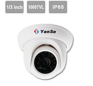 "YanSe® IR Dome Camera 1/3"" CMOS 24-LED 1000TVL Waterproof CCTV Vision Security Cameras 710CFW"