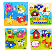 5 Set Children Wooden Puzzle Early Educational Toy (4pcs/set)