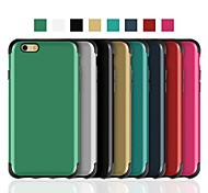 Angibabe 2 in 1 Silicon+PC Soft Slim Armour Back Cover for iPhone 6 Case 4.7 inch (Assorted Colors)