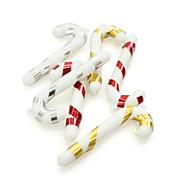 Cane Shaped Christmas Decorating Hang PVC,Set of 6