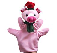 2pcs Weihnachtsschwein Eltern-Kind-Hand&Fingerpuppen Kinder sprechen prop
