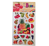 Fruit Plastic Sticker