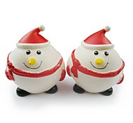 Snowman Shaped Christmas Rubber Ball Squeaking Toy for Pets Dogs Cats