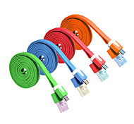 ALIP 2M 6.56FT USB2.0 Male to Micro USB Male Flat USB Cable Free Shipping