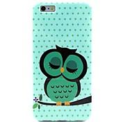Cute Owl Pattern TPU Soft Case for  iPhone 6