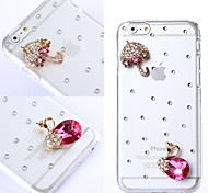DIY Exquisite Umbrella with Rhinestones Pattern Plastic Hard Cover for iPhone 6