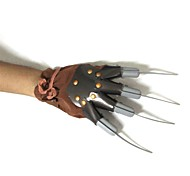marrone guanti di plastica assassino halloween costume maschile