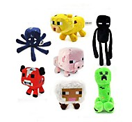 Minecraft Baby Squid Creeper Enderman Mooshroom Plush Toys(7pcs/lot)