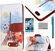 COCO FUN® Retro Goddess Pattern PU Leather Full Body Case for iPhone 6 6G 4.7 with Screen Protecter, Stand and Stylus