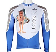 PALADIN Men's Cycling Tops Long Sleeve Bike Spring / Summer / Autumn Breathable / Ultraviolet Resistant / Quick Dry White / Sky BlueS / M