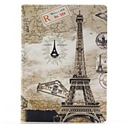 Eiffel Tower Pattern PU Leather Full Body Case with Stand for Samsung Tab4 10.1 T530