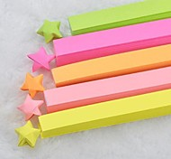 Fluorescent Color Lucky Star Origami Materials(80 Pages/1 Color/Package Assorted Color)
