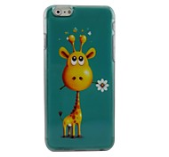 Cartoon Deer Plastic Hard Back Cover for iPhone 6