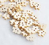 albero di Natale scrapbook scraft cucire bottoni in legno fai da te (10 pz)