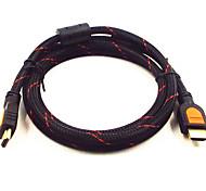 amarillo cuchillo 2m hdmi v1.4 6.56 pies macho a macho conexión de televisión por cables de soporte 3d