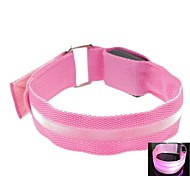LED Light Screen Arm Band Strap Armband Pink (2xCR2032)