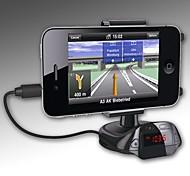 universelle 3,5 mm Audio-FM-Radio-Sender Car Mount Halter für iPhone / GPS / MP4 / Handys