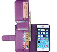 NEW Color PU Leather Wallet with Stand Full Body Cover for iPhone 6(Assorted Colors)