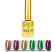 1pcs kelisi professionale del gel di colore uv metallo no.7-12 (12ml, colori assortiti)