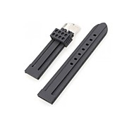 Men Women 22mm Black Silicone Watch Band Strap Bracelet Fashion