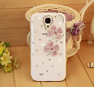 Diamond Pink Four Leaf Clover Back Cover Case for Samsung Galaxy S4 Mini I9190