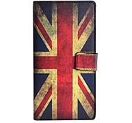 patrón de bandera británica caso de cuero de la PU con el soporte y la tarjeta de la ranura para una OnePlus
