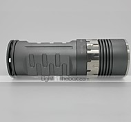 LT-1023B 4-Mode 3×Cree XM-L U2 LED Flashlight(1800LM,3×18650,Gray)