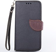 Leaves Pattern PU Leather with Card Holder Protective Cover Case for LG Google Nexus 5 (Assorted Colors)