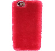 Deluxe Ladies' Favorite Fox Fur Style Fluffy Hard Case with Diamond Camera Chrome for iPhone 6  plus