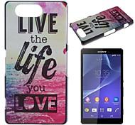 vivere e la vita di caso duro del modello mare pc per Sony Xperia Z3 mini d5803 m55w
