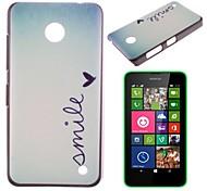 Smile Pattern PC Hard Case for Nokia Lumia N630