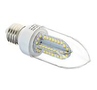 e27 6w 84x2835 SMD 500lm 3000K / Weißlicht-LED-Klarsichtdeckel Kerzenlampe (Wechselstrom 85-265V)
