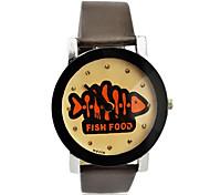Children's Fish Food Pattern PU Band  Quartz Wrist Watch (Assorted Colors)