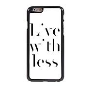 leben mit weniger Design-Alu-Hülle für das iPhone 6