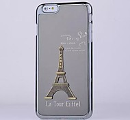 Eiffel Tower  Pattern Brushed Metal Cover for iPhone 6 Plus (Assorted Colors)