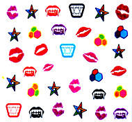5PCS Colorful Lips Top Grade Nail Art Stickers