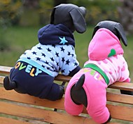 Dog Coats / Hoodies - XS / S / M / L / XL - Winter - Blue / Pink - Wedding / Cosplay - Corduroy