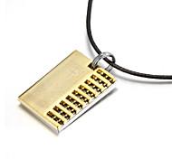 dos capas de aleación de zinc biblia de oro colgante collar religioso
