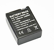 youoklight®battery per GoPro Hero 3 + / 3, 1050mAh
