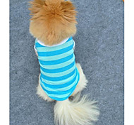 Leisure Stripe Pure Cotton T-shirt for Pet Dogs (Assorted Colors,Sizes)